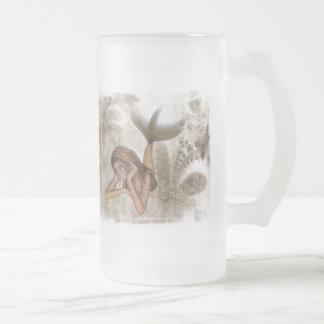 Sirena del fondo 3D del fractal Taza De Cristal