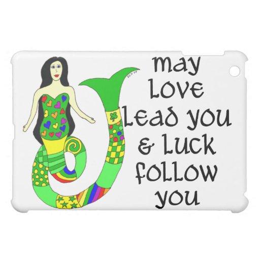 Sirena del irlandés del amor y de la suerte