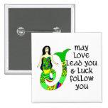 Sirena del irlandés del amor y de la suerte pin