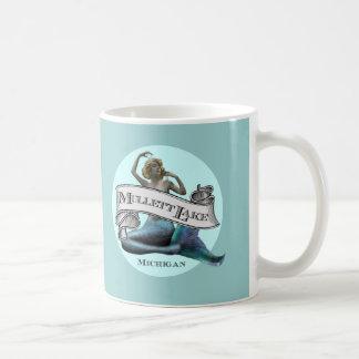 Sirena del lago Mullett Tazas De Café