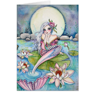 Sirena del lirio de agua - tarjeta de nota