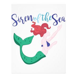 Sirena del mar membretes personalizados