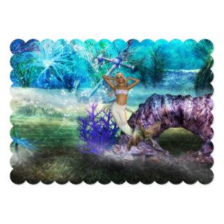 """Sirena del mar profundo invitación 5"""" x 7"""""""