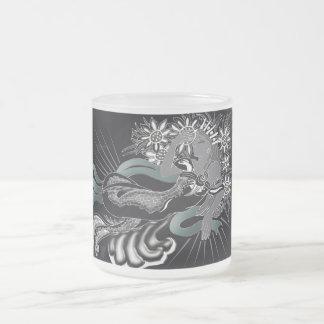 sirena del nouveau taza de cristal