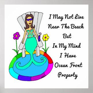 """Sirena del patio trasero """"puedo no vivir en la pla impresiones"""