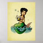 Sirena del reggae de la escuela vieja poster