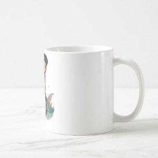 Sirena del reggae de la escuela vieja taza de café