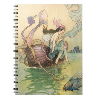 Sirena del vintage spiral notebooks