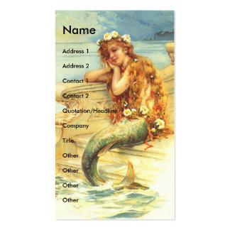 Sirena del vintage tarjetas de visita