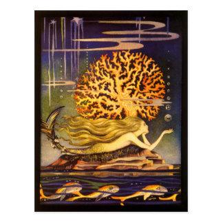 Sirena del vintage tarjetas postales