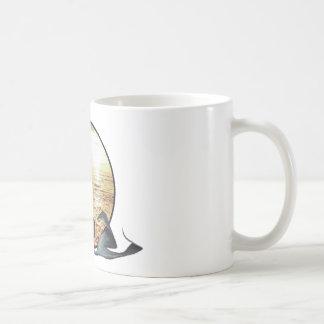 Sirena del vintage taza de café