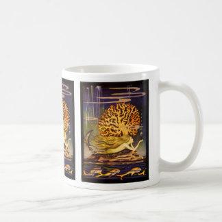Sirena del vintage tazas de café