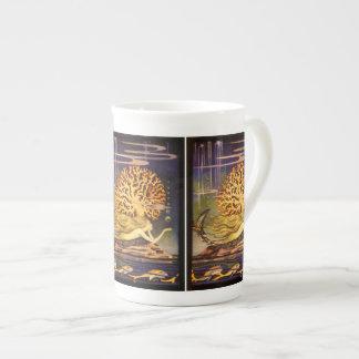 Sirena del vintage tazas de porcelana