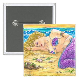 Sirena el dormir pin cuadrado