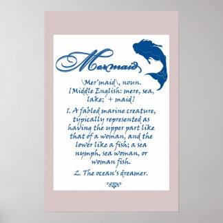 Sirena El soñador del océano Poster