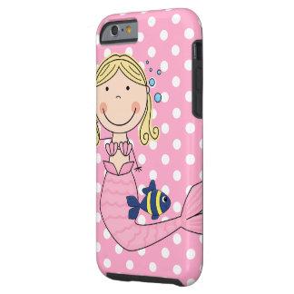 Sirena elegante linda funda de iPhone 6 tough