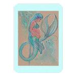 Sirena embarazada de las invitaciones de la fiesta invitación 8,9 x 12,7 cm