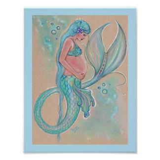 Sirena embarazada de los azules cielos de Renee Fotografía