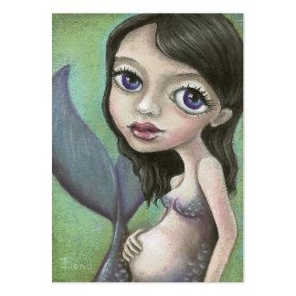 Sirena embarazada tarjetas de visita