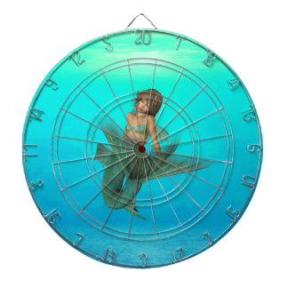 Sirena en el mar azul profundo tablero dardos