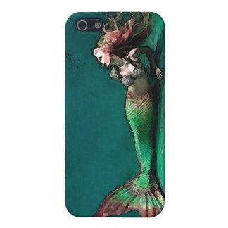 Sirena en la parte inferior del mar iPhone 5 fundas
