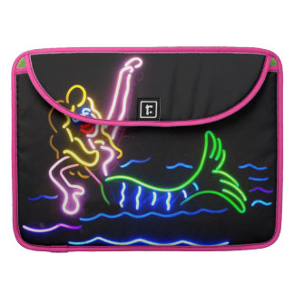 Sirena en neón funda para macbooks