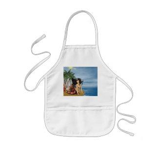 Sirena en pequeño delantal de la playa