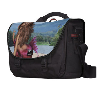 Sirena en un banco de arena bolsas para portátil