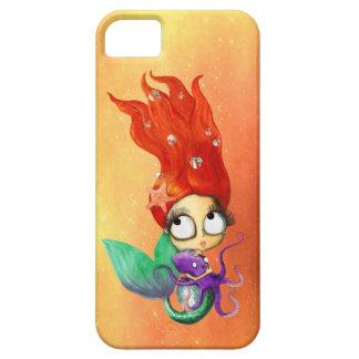 Sirena fantasmagórica con el pulpo iPhone 5 Case-Mate protectores
