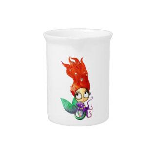 Sirena fantasmagórica con el pulpo jarra para bebida
