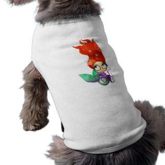 Sirena fantasmagórica con el pulpo camisa de mascota