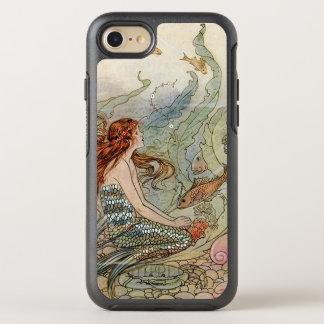 Sirena femenina hermosa del vintage debajo del mar funda OtterBox symmetry para iPhone 7