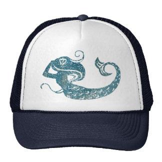 Sirena gastada gorras de camionero