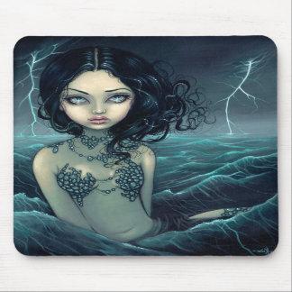 Sirena gótica Mousepad de la tormenta del mar