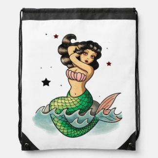 Sirena hermosa de la escuela vieja mochilas