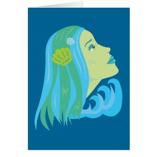 Sirena hermosa tarjeta de felicitación