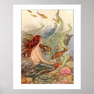 Sirena Ilustration de la bella arte Impresiones