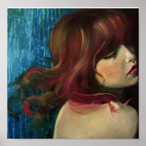 Sirena (impresión de la lona) póster