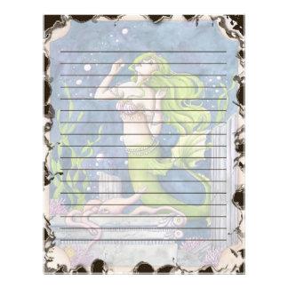 Sirena inmóvil plantilla de membrete