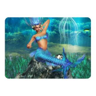 """Sirena Invitación 5"""" X 7"""""""