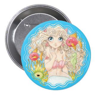 Sirena (L, azules) Pin Redondo 7 Cm