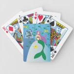 Sirena linda barajas de cartas