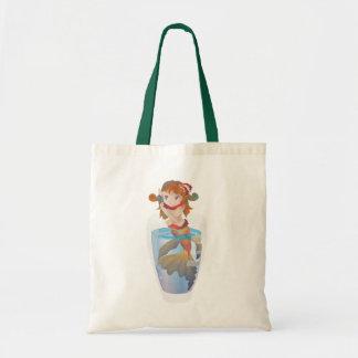 Sirena linda en un vidrio bolsa de mano