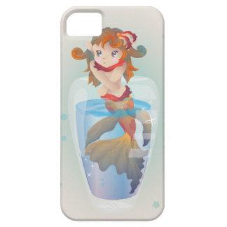 Sirena linda en un vidrio iPhone 5 carcasa