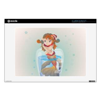 Sirena linda en un vidrio skins para 33cm portátiles