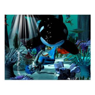 Sirena linda postales