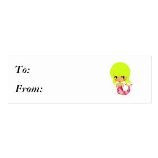 sirena mágica 3 del chibi plantilla de tarjeta personal