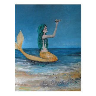 Sirena mágica postal