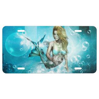 Sirena maravillosa placa de matrícula