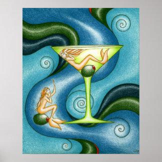 Sirena Martini Poster